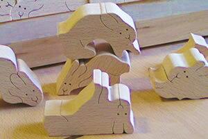 うさぎのジグソーパズル木のおもちゃ知育玩具銀河工房おしゃぶりガラガラ赤ちゃんベビー積木ブロック子供家具こどもつみきパズル