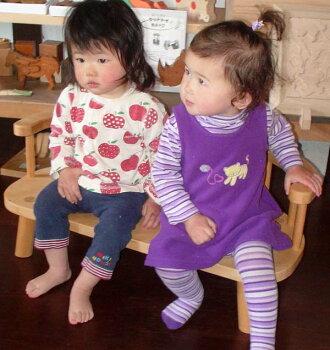 子供ベンチ木のおもちゃ知育玩具銀河工房子供椅子こども家具