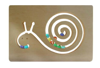 GLASS BEADED SNAIL Wooden Toys (Ginga Kobo Toys) Japan