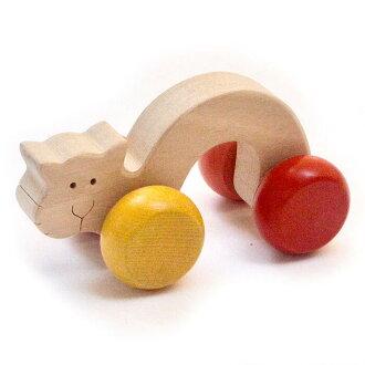 Wake Up Kitty Wooden Toys (Ginga Kobo Toys) Japan