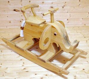 【名入れ対応可】[ゾウの木馬]大人気 注文製作の木の遊具 ギフトにもどうぞ!出産祝い インテ...