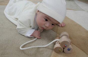 六輪車(S)出産祝い赤ちゃんおもちゃおしゃぶり銀河工房木のおもちゃ