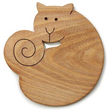 【送料無料・メール便】●近所の猫 遊び心いっぱいの木のコースター 木のおもちゃ 実用的 おもしろ積み木 国産材 バリアフリー 木工職人手作り お使いもの 木育 家庭 おしゃれなカフェ ショップ 赤ちゃん おもちゃ 木育 安全