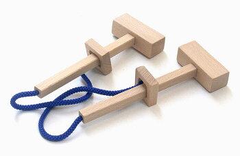ハンマーパズル木のおもちゃ知育玩具銀河工房おしゃぶりガラガラ赤ちゃんベビー積木ブロック子供遊具こどもつみきパズル