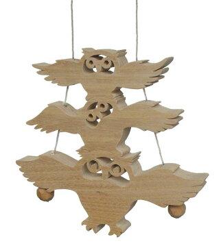 【名入れ可】●ふくろう (木のおもちゃ 昇り人形) 日本製 1歳 プレゼント ランキング 2歳 3歳 幼児子供 小学生 出産祝い誕生日ギフト♪ 赤ちゃん おもちゃ 男の子&女の子 積み木 ブロック 型はめ 誕生 木工職人手作り がらがら ラトル 雑貨 親子 木育 家族 縁起物