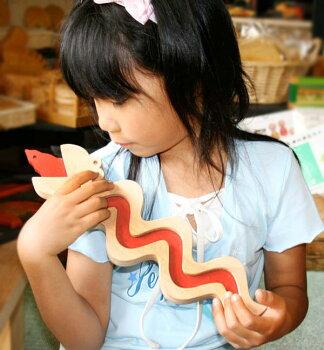 へびのコインケース木のおもちゃ知育玩具銀河工房積木ブロック子供遊具こどもつみき