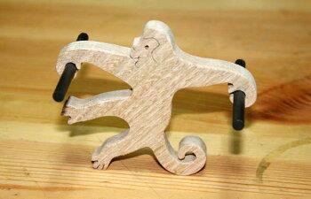猿のフック木のおもちゃ知育玩具銀河工房