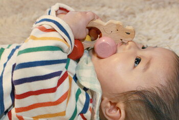 ぞう車木のおもちゃ出産祝い名入れギフト日本製おしゃぶり赤ちゃんおもちゃ銀河工房人形