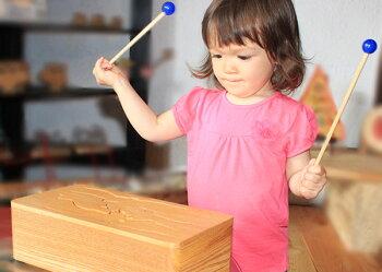 動物ドラム(7音階)木のおもちゃ知育玩具銀河工房WoodenToysJapan(GingaKoboToys)