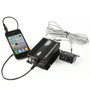 アンプ バイク マジェスティ フォルツァ フュージョン マグザム スカイウェーブ 原付 ディオ ジョグ オーディオ iPhone スマホ 対応 USB 充電 リモコン付属 2チャンネル MAX300W 小型 アンプ MB2500VU