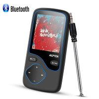 AGPTEK MP3プレーヤー Bluetooth搭載 デジタルオーディオプレーヤー 1.8インチ大画面 MP3プレーヤー HIFI高音質 超軽量 容量8GB 128GBカード対応可 C5 ブラック