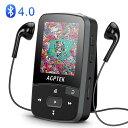 AGPTEK 音楽プレーヤー Bluetooth4.0搭載 クリップ MP3プレーヤー ロスレス音質 ミュージックプレーヤー 歩数計/ラジオ/録音 内蔵16GB マイクロSDカード最大128GBに対応 A50 ブラック