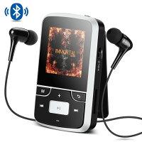 AGPTEK Bluetooth搭載 クリップ MP3プレーヤー 8GB内蔵 高音質 ミニ ミュージックプレーヤー FMラジオ/録音 最大128GBマイクロSDカードに対応 G6 ホワイト クリスマスプレゼント ギフト