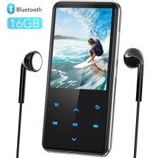 音楽プレーヤー MP3プレーヤー Bluetooth4.1 スピーカー搭載 デジタルオーディオプレーヤー 2.4インチ大画面 独立音量ボタン 内蔵16GB TFカード対応 HIFI高音質 超軽量 2.5D曲面保護ケース 日本語対応 ウォークマン AGPTEK