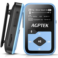 AGPTEK MP3プレーヤー クリップ 小型 軽量 音楽プレーヤー Bluetooth搭載 HI-FI音質 16GB内蔵メモリ 0.96インチLCDスクリーン 物理的音量ボタン 直接録音ボタン 再生モード切替ボタン