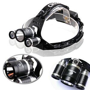 ヘッドランプ釣りヘッドライトLED登山防水生活防水充電式角度調節ストロボ機能付き