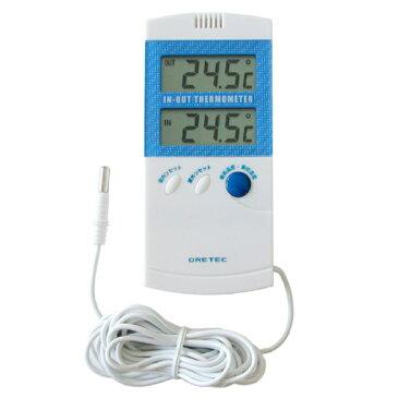DRETEC ドリテック センサー付き室内室外温度計【RCP】【O-209】【キャッシュレス 還元 対象店】