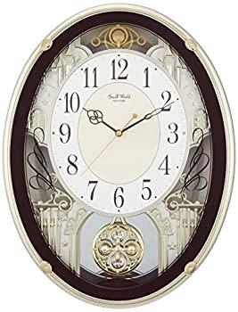 【中古】掛け時計 電波時計 からくり時計 メロディ付き スモールワールドプラウド ブラウン リズム時計 4MN523RH06