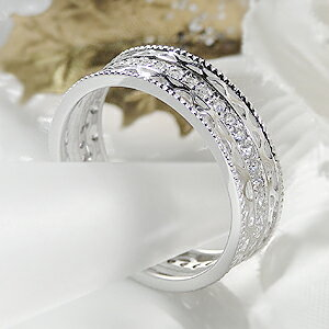 ダイヤモンド フルエタニティ プラチナ レディース プレゼント ホワイト アンティーク ダイアモンド