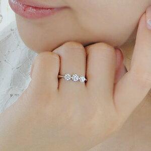 pt900SIクラス0.7ctスリーストーンダイヤモンドリング
