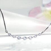 ダイヤモンド ラインネックレスペンダント プラチナ ペンダント クリスマス プレゼント
