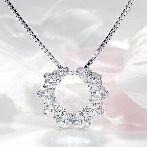 pt900【0.9ct】ダイヤモンドネックレス