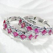 ファッション ジュエリー アクセサリー レディース ホワイト ゴールド ダイヤモンド スクエア カラット ダイア・ プレゼント