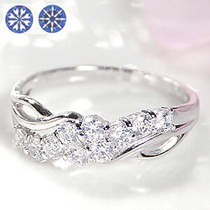 pt900【0.5ct】ハート&キューピッドテンダイヤモンドリング