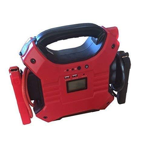 液晶モニター付きジャンプスターター大容量32000mAh12V/24V対応車バッテリー充電器USBポート家庭用電源から充電