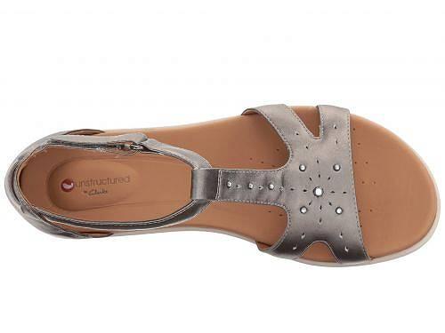 クラークス Clarks レディース 女性用 シューズ 靴 サンダル Un Reisel Mara - Pewter Metallic Leather