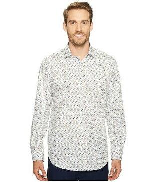 Bugatchi ブガッティ メンズ 男性用 ファッション ボタンシャツ Bugatchi ブガッティ Long Sleeve Classic Fit Point Collar Shirt - Paradise