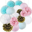 Ballloooon Gender Reveal Party Supplies Boy or Girl Baby Shower Decorations Baby Blue Pink White Gold Tissue Paper Pom Pom Paper ジェンダーリビール 赤ちゃん性別発表パーティー【送料無料】【代引不可】【