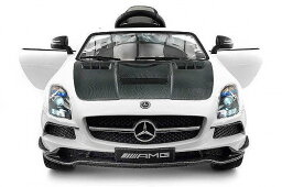 Jay Goodys 2018 Mercedes SLS AMG 12V Battery Powered Motorized Ride on Toy Car with Built in LCD TV LED Lights 革 シート メルセデス・ベンツ 電動自動車  【送料無料】【代引不可】【あす楽不可】