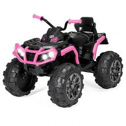 Best Choice Products ベスト チョイス プロダクト 12V キッズ 子供 4-Wheeler ATV Quad Ride-On Car Toy w/ 3.7mph Max LED Headlights AUX Jack ベストチョイスブランド 電動自動車  【送料無料】【代引不可】【あす楽不可】