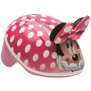 Disney ディズニー ミニーマウス 3D Bike ヘルメット Pink Polka ドット 水玉 Toddler 3+ 子供用 自転車 ヘルメット【送料無料】【代引不可】【あす楽不可】