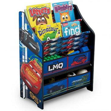 Disney ディズニー /Pixar Cars Book & Toy Organizer by Delta Children おもちゃ箱【送料無料】【代引不可】【あす楽不可】