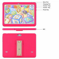 Tagital T10K キッズ 子供 Tablet 10.1 inch Display キッズ 子供 Mode Pre-Installed with WiFi tooth and Games Quad Core Processor 1280x800 IPS HD Display Pink 知育おもちゃ 英会話 英語【送料無料】【代引不可】【あす楽不可】