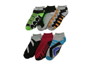 ジェフェリーズソックス Jefferies Socks 男の子用 ファッション 子供服 ソックス 靴下 Tech Sport Low Cut 6-Pack (Toddler/Little Kid/Big Kid) - Multi