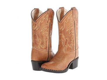 送料無料 Old West Kids Boots オールドウエスト ブーツ ウエスタンブーツ キッズ 子供用 キッズシューズ 子供靴 J Toe Western Boot (Toddler/Little Kid) - Tan Canyon