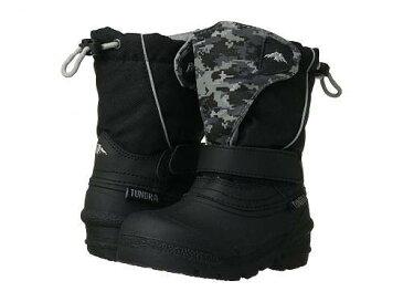 送料無料 ツンドラ Tundra Boots Kids 男の子用 キッズシューズ 子供靴 ブーツ スノーブーツ Quebec (Toddler/Little Kid/Big Kid) - Black/Grey Camo