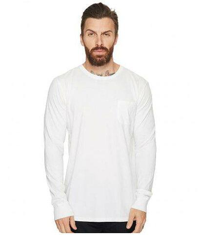 送料無料 リッチャープアラー Richer Poorer メンズ 男性用 ファッション Tシャツ Long Sleeve Crew Pocket Tee - White