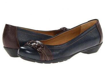 送料無料 コンフォーティヴァ Comfortiva レディース 女性用 シューズ 靴 フラット Posie - Soft Spots - Navy/Chocolate Velvet Sheep Nappa