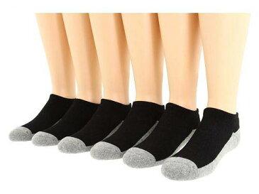 ジェフェリーズソックス Jefferies Socks 男の子用 ファッション 子供服 ソックス 靴下 Seamless Sport Low Cut Six Pair Pack (Infant/Toddler/Big Kid/Adult) - Black/Grey
