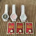 【クーポン獲得】【当店は3980円以上で送料無料】ハイブリッドセラミックミッキー時計ピンク 3個セット