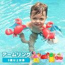 アームリング 子供用 送料無料 浮き輪 スイミング 練習 補助 水泳 フラミンゴ パイナップル サクランボ カニ 二個セット セット 海 プール 水着 水泳 夏 遊び 可愛い キッズ 男の子 女の子 ファッション 子供用 安い 8P93S