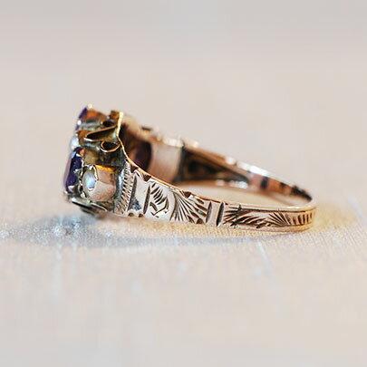 9ct アメジスト パールリング Rings レディース ジュエリー 指輪