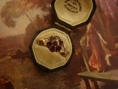 グッドウィル アンティーク ジュエリー リング 指輪 ゴールド ガーネットリング  装飾品