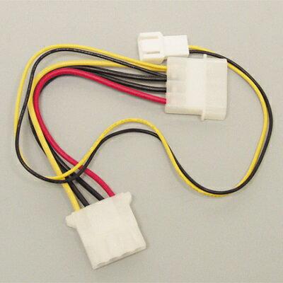 アイネックス CA-03PA ファン用電源ケーブル 電源ユニットから直接電源が取れるため、マザーボードからの電源供給に無理がある時に最適です。