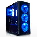 サイズ SIRIUS (シリウス) ATX対応 PCケース 2面強化ガラス + ブルーLEDファン4基標準搭載