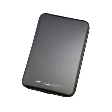 [限定色]UNITCOM UNI-HAL300U3-GMETAL/L 2.5インチ SATA HDD/SSD用 USB3.0対応 ハードディスク ケース ガンメタル